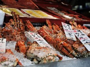 Crabes sur un etal